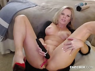 A Hot Naughty Blonde Hooker Is All By Herself