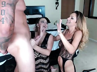 Dirty Blonde Amateur in Anal Threesome Ass To Mouth Blowjob