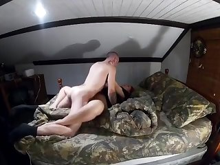 While wife's away, fucking mistress milf till I cum on her ass