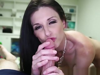 Gorgeous Milf Jerking Cock In Pov