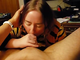 Amazing blowjob I can't hold back my cum