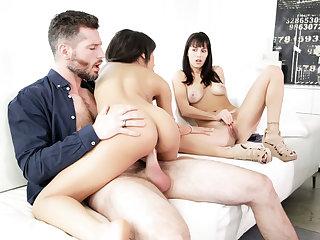 Wife watching husband having intercourse his bitch