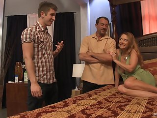 busty milf Janet Mason likes missionary pose in threesome with her neighbors