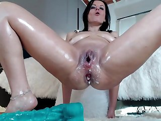Horny Milf Slut Loses The Whole Dildo In Her Nice Asshole