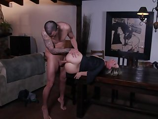 Desperately horny married woman fucks another man