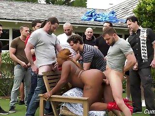 big ass ebony tries numerous dicks in her tiny holes