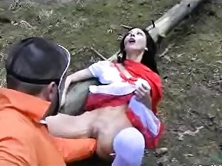 Anal outdoor fisting MILF