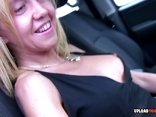 Blond Hair Lady gets shafted hard by her man