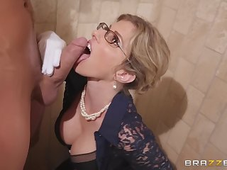 a bathroom is the favorite fuck place for adorable Cory Chase