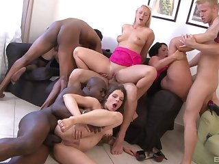 Horny sluts are having a wild time swapping the dicks