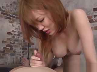 Japanese milf cocksucking and tribbing