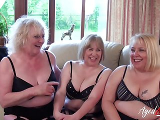 Three Mommy Ladies Occupying One Dick - horny GILFs