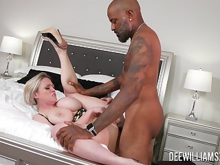 Mature woman gets fucked by a black man, better than hubby does
