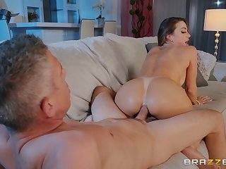 Abigail Mac blowing a stranger's cock before and after hard sex