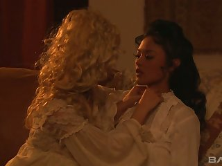 Lusty duchess Carmen Luvana is interested in eating wet pussy of her beauty