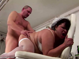 Big mature nurse ass fucked and creampied
