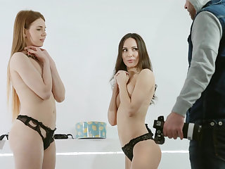 Kinky photo session with two babes