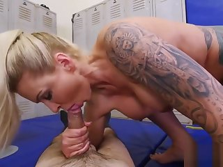 Sexy brunette step mom Dominant MILF Gets A Creampie After Anal Sex