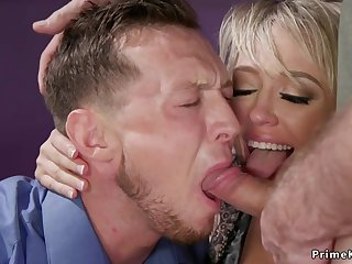 Huge breast wife butt fucking bangs husband 3some