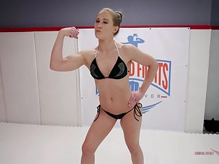 Nasty brunette slut Cheyenne Jewel pounded hardcore in the ring