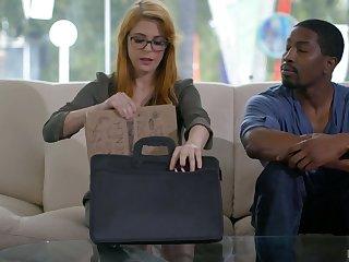 Black neighbor wins a chance to polish wet pussy of busty Penny Pax