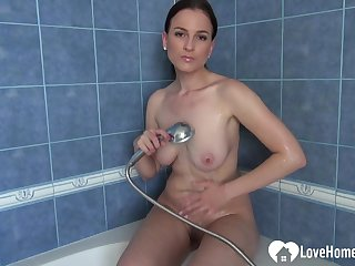 Cutie in the shower loves to trim herself