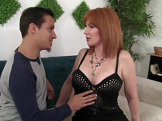 Redhead mature Freya Fantasia loves to fuck badly with her friend