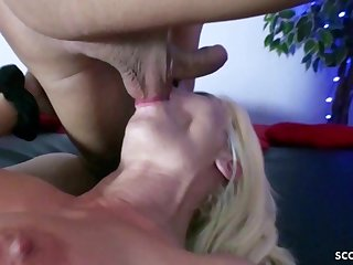GERMAN MILF First Time In Cathouse Banged Rough By Stranger - Xozilla Porn